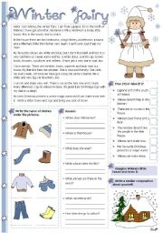 English Worksheets: Winter fairy