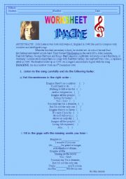 English Worksheet: Lyrics about the song