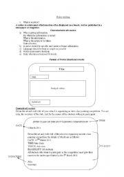 English Worksheets: Notice writing
