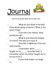 English Worksheets: journal topics