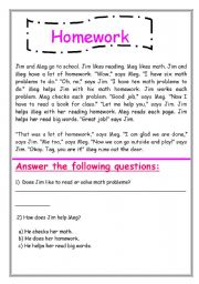 English Worksheets: 2nd H.W