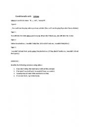 English Worksheet: USE OF UNLESS
