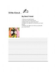 English Worksheets: My Best Girlfriend