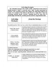 English Worksheets: strategies