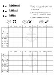 English Worksheet: Vocabulary Battleship