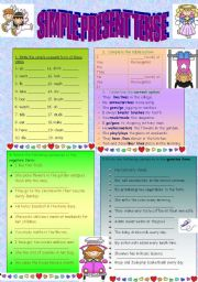 present simple tense review