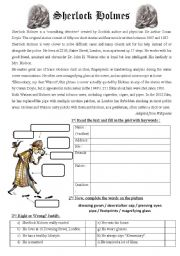 English Worksheets: Sherlock Holmes biography