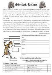 english teaching worksheets sherlock holmes. Black Bedroom Furniture Sets. Home Design Ideas