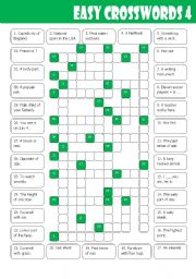 English Worksheets: Easy Crosswords 4
