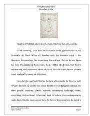 English Worksheet: Siegfried Woldhek on Leonardo Da Vinci