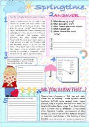English Worksheet: SPRING.