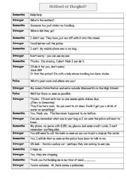 English Worksheets: Robbed and Burgled