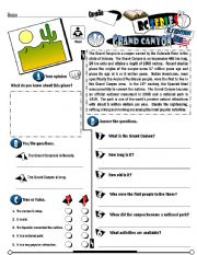 Worksheet Grand Canyon Worksheets english worksheets the countries page 28 rc series u s edition 21 grand canyon