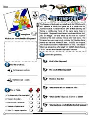 English Worksheets: RC Series_U.S Edition_19 The Simpsons (Fully Editable)
