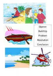 English Worksheets: Rescue! Pictures to sequence