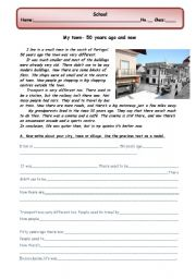 essay on my town for class 3