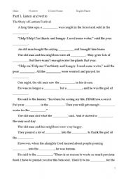 English Worksheets: LANTERN FESTIVAL