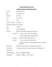 lesson plan for physical education