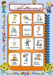 English Worksheets: Action Pictionary2/2
