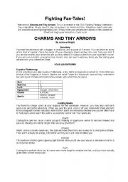 English Worksheets: Charms and tiny arrows