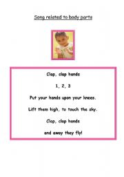 English Worksheets: Clap clap hands