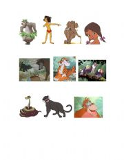 Jungle book characters names with pictures