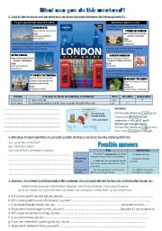 English Worksheets: What can you do this weekend in London ?   **EDITABLE & ANSWERS**