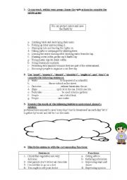 English Worksheet: save the earth 9th form Tunisian Pupils (part 2)