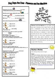 English Worksheet: _Song: Dog days are over - Florence and the machine _