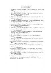 English Worksheets: SIMON SAYS SCRIPT