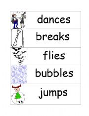 English Worksheets: action words word wall