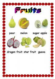 English worksheet: Fruit pictionary