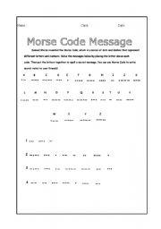 English Worksheets: morse code