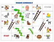 English Worksheets: FARM ANIMALS board game