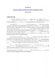 English Worksheet: Th gold rush