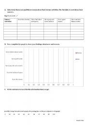 English Worksheets: graph writing