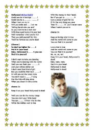 English Worksheet: Song: Hollywood by Michael Buble