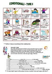 English Worksheet: CONDITIONAL TYPE 3