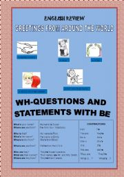 English Worksheets: Greetings from around the world