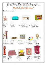 English Teaching Worksheets Furniture