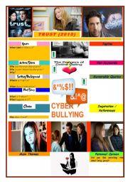 English Worksheets: TRUST - Online Dangers