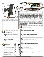 English Worksheets: RC Series_World Wonders Edition_01 Easter Island (Fully Editable + Key)