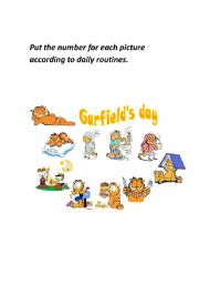English Worksheet: daily routines game