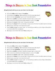 English Worksheet: Book Report Presentation