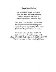 English Worksheet: Modal Auxiliaries Poem