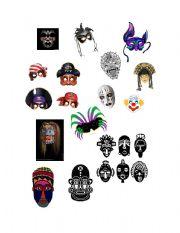 English Worksheets: Make a Mask