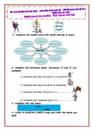 English Worksheets: Talking about music