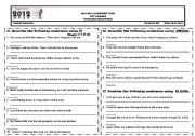 English Worksheet: IF CLAUSES - UNLESS - IN CASE