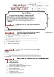 English Worksheets: Paragraph writing