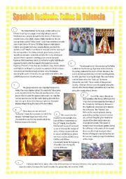 English Worksheets: Festivities: FALLAS( Valencia)